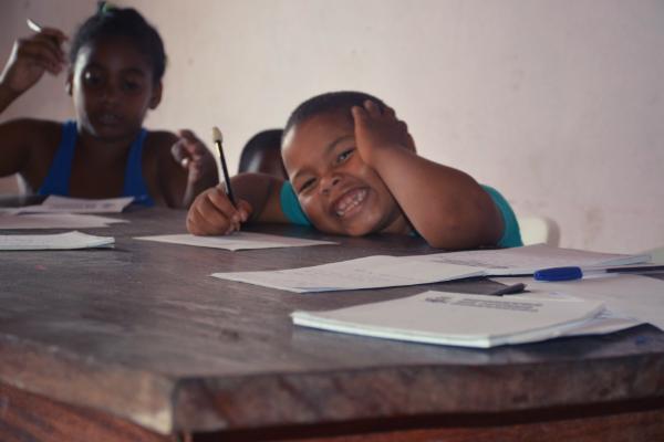 Crianças no processo de construção do jornal