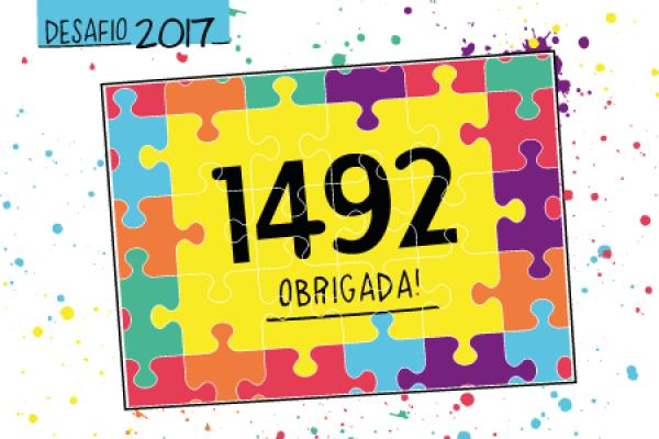 Desafio 2017: 1492 projetos!