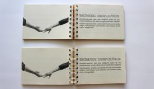 Foto-mostra-dois-livros-dos-encontros-abertos-em-página-sobre-encontros-inexplicáveis