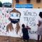 Alunos grafitam muro com mensagens de combate ao bullying