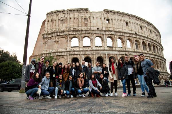 Estudantes representam o Brasil em Conferência Global em Roma/ Alícia Peres