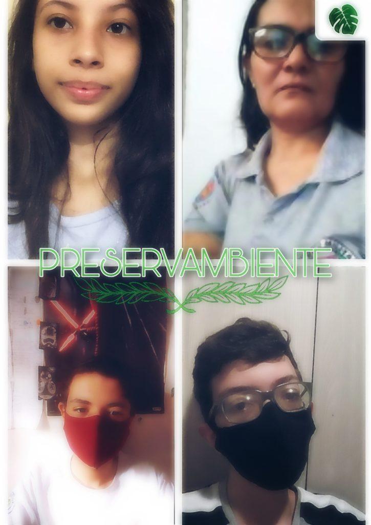 Montagem com a foto de três adolescentes e uma mulher adulta.